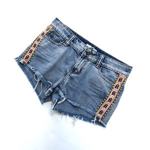 Others Follow Willow Cut off beaded shorts size 26